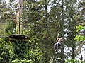 Participant in high wire forest adventure - geograph.org.uk - 815775.jpg