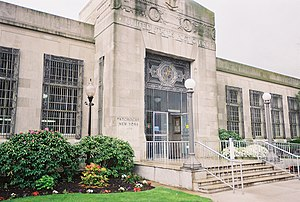 John Vredenburgh Van Pelt - Lieutenant Michael P. Murphy United States Post Office (Patchogue, New York) (1930), designed by John Van Pelt