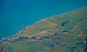 Patea - Aerial photo of Patea