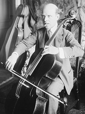 Spanish cellist and conductor Pablo Casals (18...