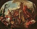 Paul Troger - Der heilige Cassian von Imola stürzt die Statue des Pluto auf Säben - 6974 - Österreichische Galerie Belvedere.jpg