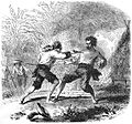Paul de la Gironiere shooting the bandit Cajoui, early 1800s.jpg