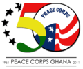 Peace Corps Ghana 50th Anniversary logo 3.png