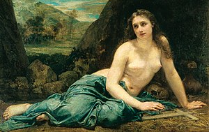 Blanche d'Antigny - Penitent Magdalene by Baudry, the model was Blanche d'Antigny
