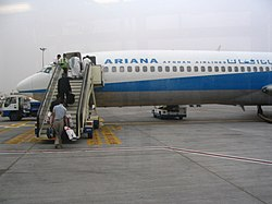 People boarding Ariana plane at Kabul Airport.jpg