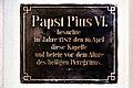 Peregrinikapelle, GT Papst Pius VI.,Wien 9., Servitenkirche.jpg