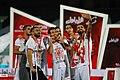 Persepolis F.C. celebrating after 2019–20 Persian Gulf Pro League trophy (21).jpg