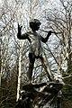 Peter Pan statue in Kensington Gardens in the City of Westminster in London, spring 2013 (3).JPG