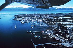 Petersburg, Alaska - Aerial view of Petersburg