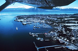 Petersburg, Alaska - Aerial view of Petersburg