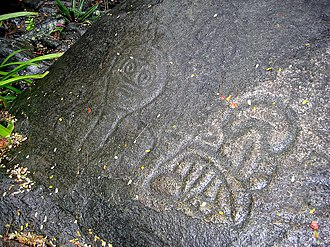 History of the United States Virgin Islands - Reef Bay Trail petroglyphs in the Virgin Islands National Park.