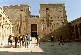 Pylon (architecture) - Image: Philae pylon at Luxor