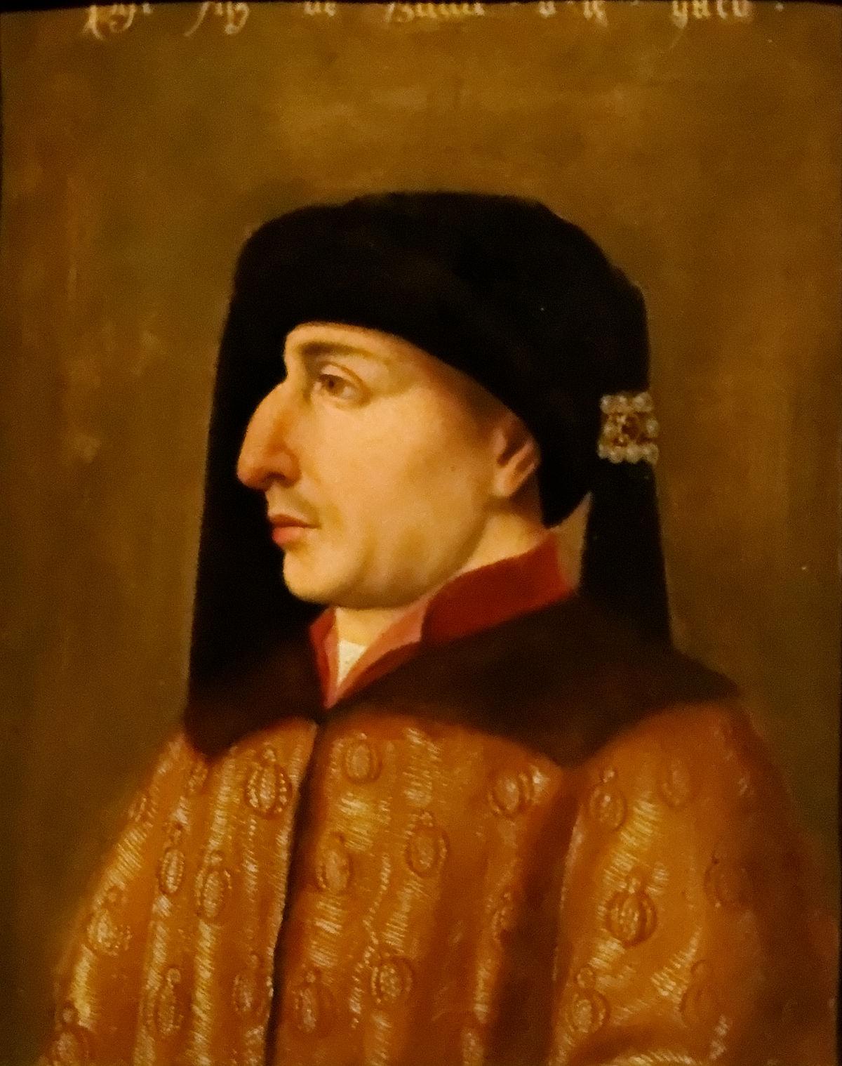 Portrait de Philippe II, dit «le Hardi». École flamande précoce, huile sur bois c 1500.