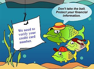 Federal Trade Commission Act of 1914 - Frame of an animation by the Federal Trade Commission intended to educate citizens about phishing tactics.