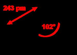 Phosphorus triiodide - Image: Phosphorus triiodide 2D dimensions