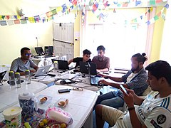 Photo Edit-a-thon during WLE 2019 in Nepal 02.jpg