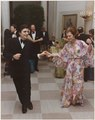 Photograph of First Lady Betty Ford and Edward Vilella Dancing, Following the Departure of Prime Minister and Mrs.... - NARA - 186805.tif