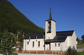 Oberems - A church in Oberems