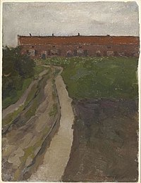 Piet Mondriaan - Country lane with row of workers' houses - 0334215 - Kunstmuseum Den Haag.jpg