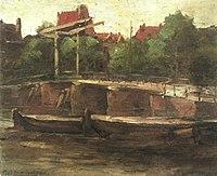 Piet Mondriaan - Waalseilandgracht met brug en platbodems - A41 - Piet Mondrian, catalogue raisonné.jpg