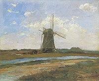 Piet Mondriaan - Windmill in sunlight near a stream - A147 - Piet Mondrian, catalogue raisonné.jpg