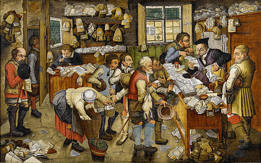 Pieter Brueghel the Younger (or workshop) The Payment of the Tithes Bonhams