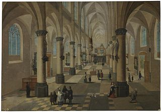 Interior of a church in Flanders