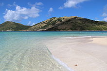 La spiaggia di Pinel Island