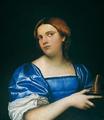 Piombo, Retrato de joven como Virgen sabia, Galería Nacional, Washington.png
