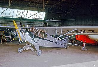 Taylor J-2 - 1938-built Piper J-2 Cub at Fair Oaks airfield, England, in 1965