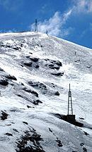 Pista de esquí en Chacaltaya