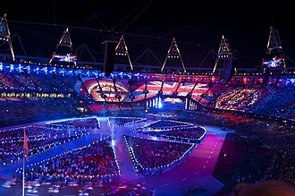 2012 Summer Olympics closing ceremony - One of the images created with the pixels during the ceremony