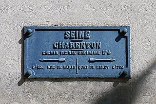 Plaque de cocher, Charenton-le-Pont, Seine