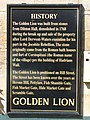 Plaque on the history of the Golden Lion - geograph.org.uk - 852117.jpg
