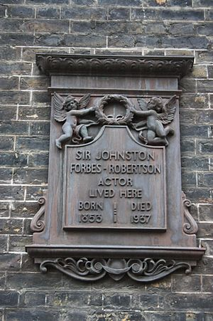 Johnston Forbes-Robertson - Memorial plaque, Bedford Square, London