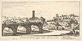 Plate 14- Senatorial Bridge, today called the Ponte Rotto (Broken Bridge). 1. Temple of Vesta. 2. Temple of Fortuna Virilis. 3. Part of the ancient Palatine. (Ponte Senatorio oggi detto Ponte rotto) MET DP827923.jpg