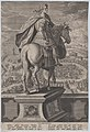 Plate 5- equestrian statue of Claudius, seen from behind, a naval competition at right in the background, from 'Roman Emperors on Horseback' MET DP877294.jpg