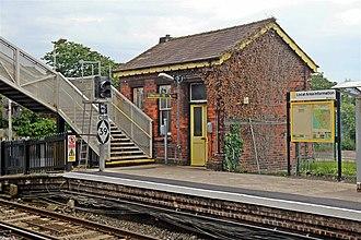 Hall Road railway station - Image: Platform Building, Hall Road Railway Station (geograph 2994470)
