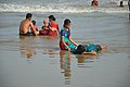 Playful Families with Sea Waves - New Digha Beach - East Midnapore 2015-05-01 8763.JPG
