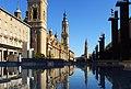Plaza del Pilar vor Basílica de Nuestra Señora del Pilar Rathaus Cathedr del Salvador Zaragoza Aragon Spanien Foto Wolfgang Pehlemann P1150538.jpg