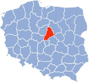 Płock Voivodeship - Image: Plock Voivodship 1975