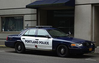 Portland Police Bureau - Standard Ford Police Cruiser with post-2013 livery.