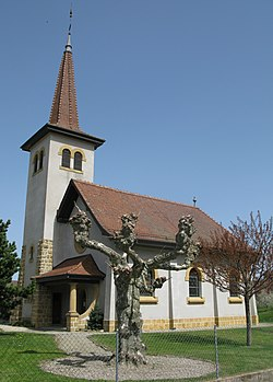 Poliez-Pittet village church