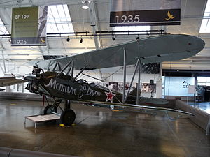Flying Heritage & Combat Armor Museum - The collection's Polikarpov Po-2 on display.