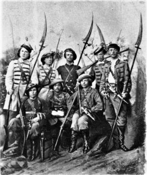 https://upload.wikimedia.org/wikipedia/commons/thumb/7/76/Polish_scythemen_1863.PNG/300px-Polish_scythemen_1863.PNG