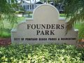 Pompano Beach FL Founders Park sign01.jpg