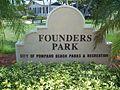 Pompano Beach FL Founders Park sign01.jpg