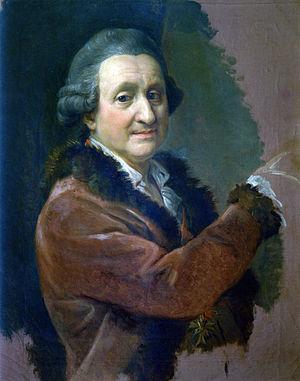 Pompeo Batoni - Pompeo Girolamo Batoni. Self portrait, 1773-1774. Galleria degli Uffizi, Florence