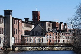 Pontiac, Rhode Island - Pontiac Mills is listed on the National Register of Historic Places