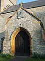 Porch and sundial, Cossington church (geograph 4869112).jpg